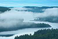 View of Lac Wapizagonke on moring fog from the lookout<br />