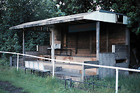 Covered area at Eltham Town FC Football Ground, Green Lane, Eltham, London, pictured on 1st August 1991