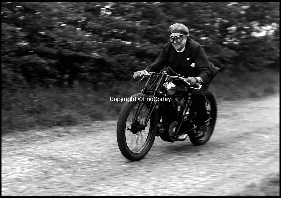 BNPS.co.uk (01202 55883)<br /> Pic: EricCorlay/BNPS<br /> <br /> ***Please Use Full Byline***<br /> <br /> Designer George Brough on an SS80 original.<br /> <br /> British icon back from the dead - The legendary Brough Superior rides again.  <br /> <br /> The first motorbikes to be made by the legendary Brough Superior marque in over 70 years are set to be rolled out onto British roads.<br /> <br /> The legendary British manufacturers of the 'Rolls Royce' of motorcycles are nearing completion of 300 brand new machines after a businessman bought the rights to the Brough Superior name in 2008.<br /> <br /> Mark Upham has already secured dozens of orders for the £50,000 modern-day replicas of the vintage Brough Superior SS100 bikes that were the fastest machines in the world in the 1930s.<br /> <br /> The new gleaming models have a 1,000cc V-twin engine and a whopping 140bhp. They look almost indentical to the classic Brough bikes and have the same iconic 'saddle' petrol tank and speedo.