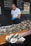 Whitstable Oyster Festival, Kent England 2007. Half a dozen oysters.