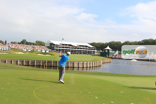 Bernd Wiesberger (AUT) on the 18th fairway during the 2016 KLM Open at the Dutch Golf Club at Spijk in The Netherlands on  Sunday 11/09/16.<br /> Picture: Thos Caffrey   Golffile