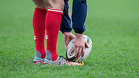 Pre Match warm up during the Greene King IPA Championship match between London Scottish Football Club and Jersey at Richmond Athletic Ground, Richmond, United Kingdom on 7 November 2015. Photo by Andy Rowland.
