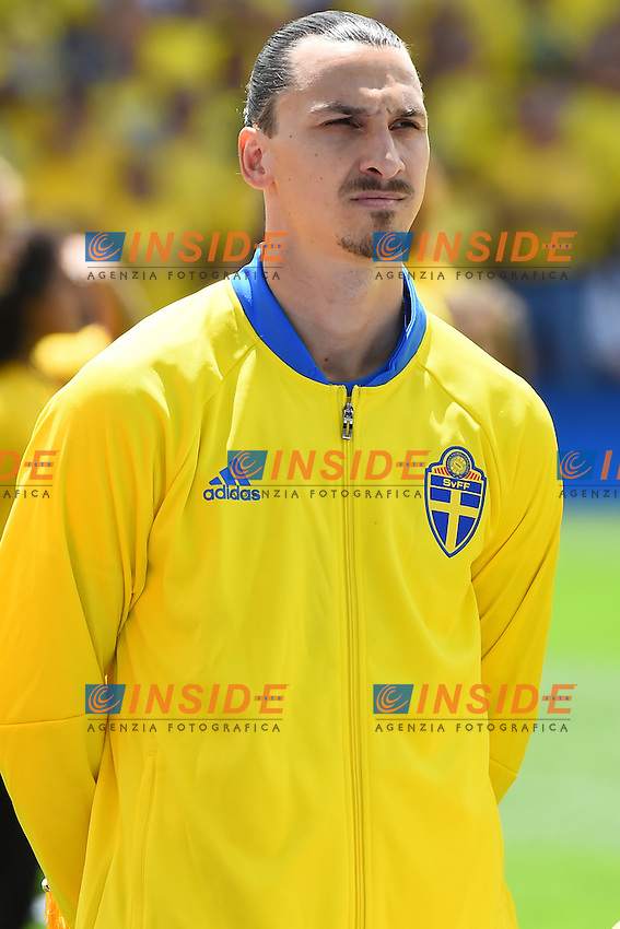 Zlatan Ibrahimovic <br /> Tolouse 17-06-2016 Stade Municipal<br /> Football Euro2016 Italy - Sweden / Italia - Svezia<br /> Group Stage Group E<br /> Foto Massimo Insabato / Insidefoto
