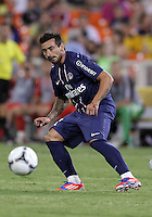 WASHINGTON, DC - July 28, 2012:  Ezequiel Lavezzi (11) of PSG (Paris Saint-Germain) in an international friendly match against DC United at RFK Stadium in Washington DC on July 28. The game ended in a 1-1 tie.