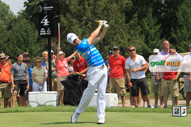 Rory McIlroy (NIR) tees off the 4th tee during Saturday's Round 3 of the 2012 World Golf Championship Bridgestone Invitational at The Firestone Country Club, Akron, Ohio, USA 4th August 2012 (Photo Eoin Clarke/www.golffile.ie)