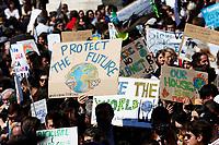 Banners protect the future<br /> Rome April 19th 2019. Fridays for Future Climate Strike in Rome, Piazza del Popolo.<br /> photo di Samantha Zucchi/Insidefoto