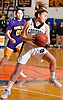 Katie Kelly #3 of Commack secures the ball after grabbing a rebound in a Suffolk Shootout tournament game against Central Islip at Northport High School on Thursday, Dec. 28, 2017. Commack won by a score of 58-34.