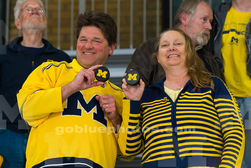 The University of Michigan ice hockey team,7-4, loss to OSU at Yost Ice Arena in Ann Arbor, MI on March 4, 2016.