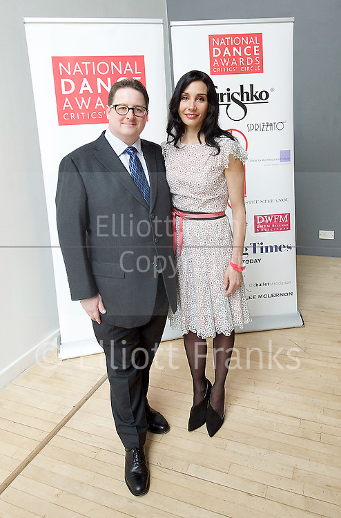 The Critics' Circle National Dance Awards 2016 <br /> at the Lilian Baylis Studio, Sadler's Wells, London, Great Britain <br /> <br /> 6th February 2017 <br /> Lee McLernon &amp; Tamara Rojo <br /> <br /> <br /> Photograph by Elliott Franks <br /> Image licensed to Elliott Franks Photography Services