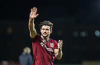 David Buchanan of Northampton Town following the victory during the Sky Bet League 2 match between Oxford United and Northampton Town at the Kassam Stadium, Oxford, England on 16 February 2016. Photo by Andy Rowland.