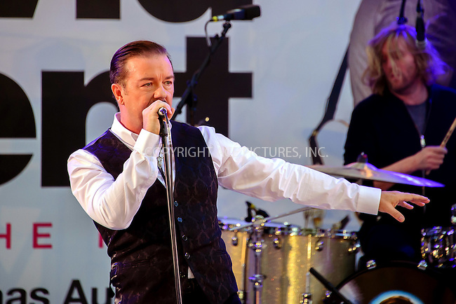 www.acepixs.com<br /> <br /> August 10 2016, London<br /> <br /> Ricky Gervais performs as David Brent &amp; Foregone Conclusion at the world premiere of 'David Brent: Life On The Road' at the Odeon Leicester Square on August 10 2016 in London.<br /> <br /> By Line: Famous/ACE Pictures<br /> <br /> <br /> ACE Pictures Inc<br /> Tel: 6467670430<br /> Email: info@acepixs.com<br /> www.acepixs.com
