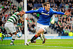 20TH MARCH 2011, CELTIC V RANGERS, CIS CUP FINAL, HAMPDEN PARK, GLASGOW, NIKICA JELAVIC CELEBRATES SCORING AN EXTRA TIME WINNER TO EARN RANGERS THE CIS CUP 2-1, ROB CASEY PHOTOGRAPHY.