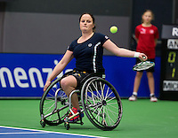December 18, 2014, Rotterdam, Topsport Centrum, Lotto NK Tennis, Aniek van Koot NED)<br /> Photo: Tennisimages/Henk Koster