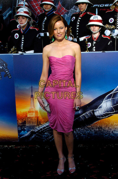 "ELIZABETH BANKS.""Spider-Man 3"" US premiere during the 6th Annual Tribeca Film Festival held at United Artist Kaufman Astoria Cinema 14, Queens, New York, USA,.30 April 2007..full length pink purple strapless dress.CAP/ADM/BL.©Bill Lyons/AdMedia/Capital Pictures. *** Local Caption ***"