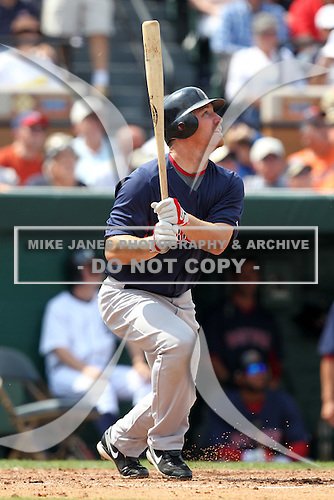 Boston Red Sox JD Drew #7 during a spring training game vs. the Detroit Tigers at Joker Marchant Stadium in Lakeland, Florida;  March 15, 2011.  Boston defeated Detroit 2-1.  Photo By Mike Janes/Four Seam Images
