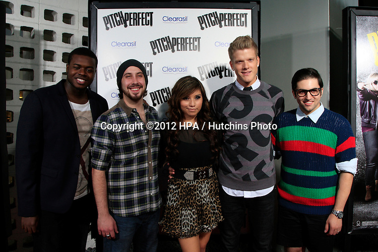 """LOS ANGELES - SEP 24:  Pentatonix arrives at the """"Pitch Perfect'"""" Premiere at ArcLight Cinemas on September 24, 2012 in Los Angeles, CA"""