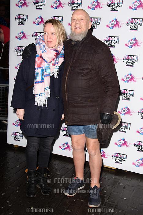 Emily Eavis & Michael Eavis at the VO5 NME Awards 2018 at the Brixton Academy, London, UK. <br /> 14 February  2018<br /> Picture: Steve Vas/Featureflash/SilverHub 0208 004 5359 sales@silverhubmedia.com