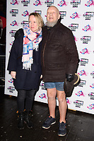 Emily Eavis &amp; Michael Eavis at the VO5 NME Awards 2018 at the Brixton Academy, London, UK. <br /> 14 February  2018<br /> Picture: Steve Vas/Featureflash/SilverHub 0208 004 5359 sales@silverhubmedia.com