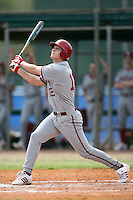 February 22, 2009:  Outfielder Alex Dickerson (12) of Indiana University during the Big East-Big Ten Challenge at Naimoli Complex in St. Petersburg, FL.  Photo by:  Mike Janes/Four Seam Images
