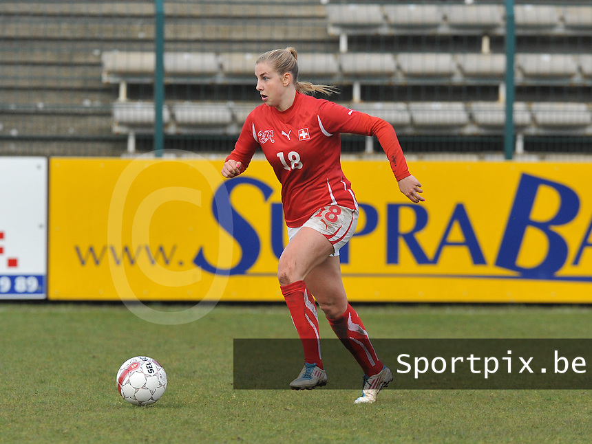 UEFA Women's Under 17 Championship - Second Qualifying round - group 1 : England - Switzerland : .Audrey Wuichet .foto DAVID CATRY / Vrouwenteam.be