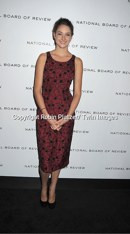 """actress Shailene Woodley of """" The Descendants"""" attends The National Board of Review Film Awards Gala on January 10, 2012 at Cipriani 42nd Street in New York City."""