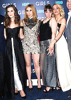 www.acepixs.com<br /> <br /> February 2 2017, New York City<br /> <br /> (L-R) Allison Williams, Zosia Mamet, Lena Dunham and Jemima Kirke arriving at the the New York premiere of the sixth and final season of 'Girls' at the Alice Tully Hall, Lincoln Center on February 2, 2017 in New York City.<br /> <br /> By Line: Nancy Rivera/ACE Pictures<br /> <br /> <br /> ACE Pictures Inc<br /> Tel: 6467670430<br /> Email: info@acepixs.com<br /> www.acepixs.com