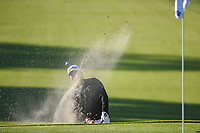 Hideki Matsuyama (JPN) hits from the trap on 1 during round 1 of the Arnold Palmer Invitational at Bay Hill Golf Club, Bay Hill, Florida. 3/7/2019.<br /> Picture: Golffile | Ken Murray<br /> <br /> <br /> All photo usage must carry mandatory copyright credit (© Golffile | Ken Murray)