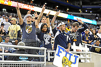 26 December 2010:  FIU fans cross their fingers hoping that a play under review will not be reversed in the fourth quarter as the FIU Golden Panthers defeated the University of Toledo Rockets, 34-32, to win the 2010 Little Caesars Pizza Bowl at Ford Field in Detroit, Michigan.
