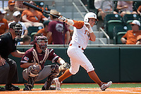 Texas Longhorns outfielder Mark Payton #2 swings during the NCAA baseball game against the Texas A&M Aggies on April 28, 2012 at UFCU Disch-Falk Field in Austin, Texas. The Aggies beat the Longhorns 12-4. (Andrew Woolley / Four Seam Images).