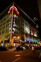 Montreal (Qc) Canada - July 12 2009 - Downtown Montreal at night : Scotia Bank Cinema