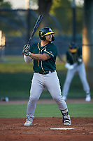 AZL Athletics Green Gio Dingcong (10) at bat during an Arizona League game against the AZL Dodgers Lasorda at Camelback Ranch on June 19, 2019 in Glendale, Arizona. AZL Dodgers Lasorda defeated AZL Athletics Green 9-5. (Zachary Lucy/Four Seam Images)