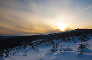 Franconia Notch State Park - Scenic views along Kinsman Ridge Trail in the White Mountains, New Hampshire USA. This trail leads to the summit of Cannon Mountain.