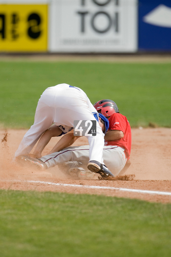 BASEBALL - GREEN ROLLER PARK - PRAGUE (CZECH REPUBLIC) - 24/06/2008 - PHOTO: CHRISTOPHE ELISE.VINCENT FERREIRA (TEAM FRANCE)