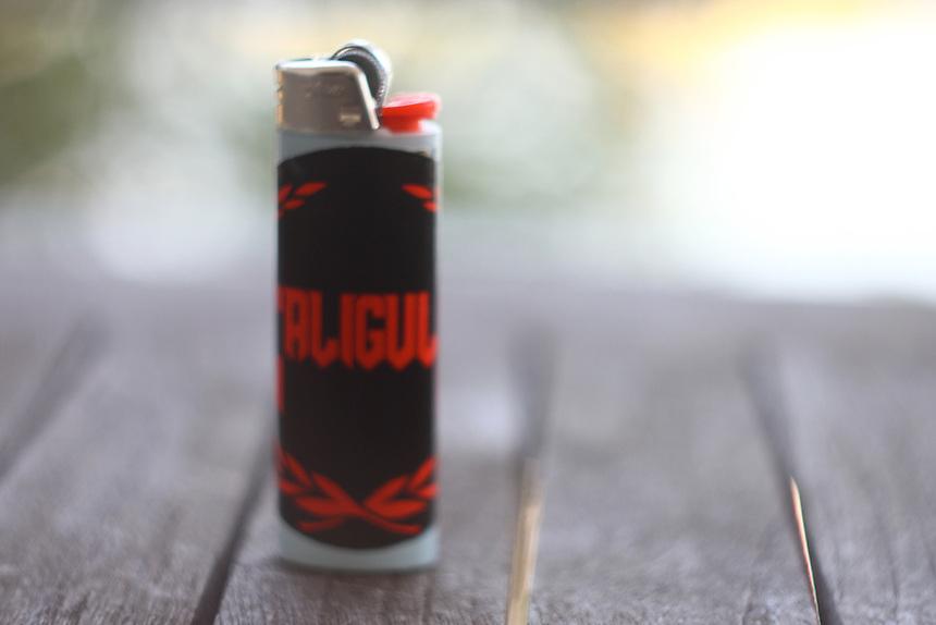 bic lighter and a sticker