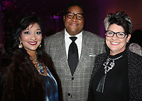 NWA Democrat-Gazette/CARIN SCHOPPMEYER Michelle Australie (from left), Tony Waller and Jacquelyn Queen enjoy the NWAFW Gala on March 2.