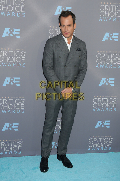 17 January 2016 - Santa Monica, California - Will Arnett. 21st Annual Critics' Choice Awards - Arrivals held at Barker Hangar. <br /> CAP/ADM/BP<br /> &copy;BP/ADM/Capital Pictures