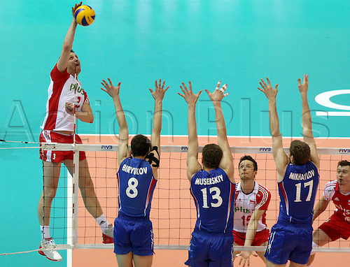 09.07.2011 Action from the FIVB World League Finals from the Ergo Arena in Gdansk, Poland. Picture shows PIOTR GRUSZKA (POL).