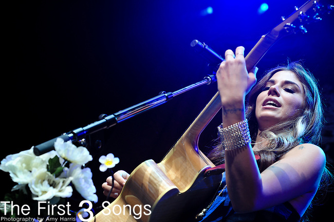 Christina Perri performs at the Riverbend Musc Center in Cincinnatti, Ohio