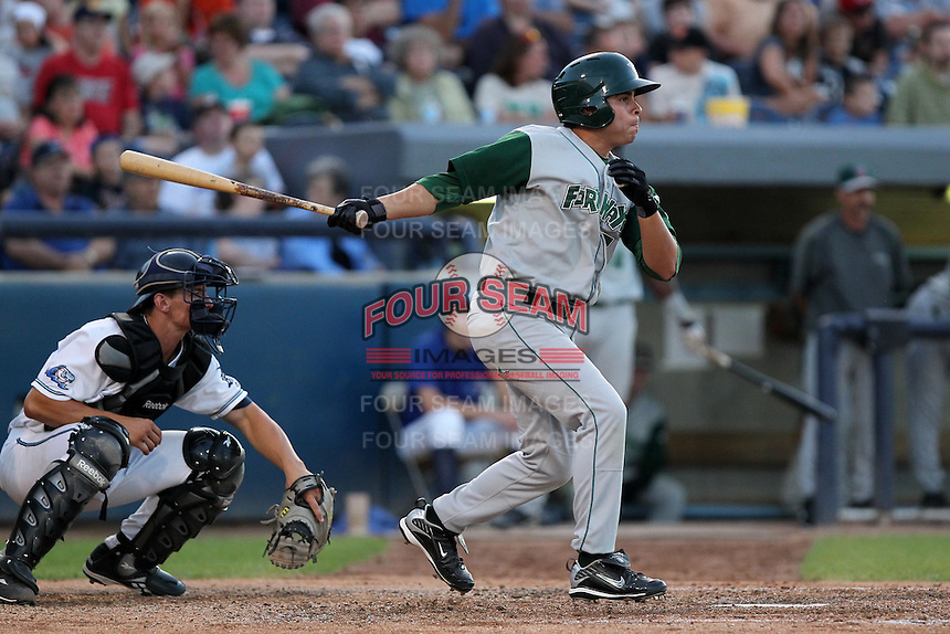 Fort Wayne TinCaps Daniel Meeley during a game vs. the West Michigan Whitecaps at Fifth Third Field in Comstock Park, Michigan August 18, 2010.   Fort Wayne defeated West Michigan 5-1.  Photo By Mike Janes/Four Seam Images