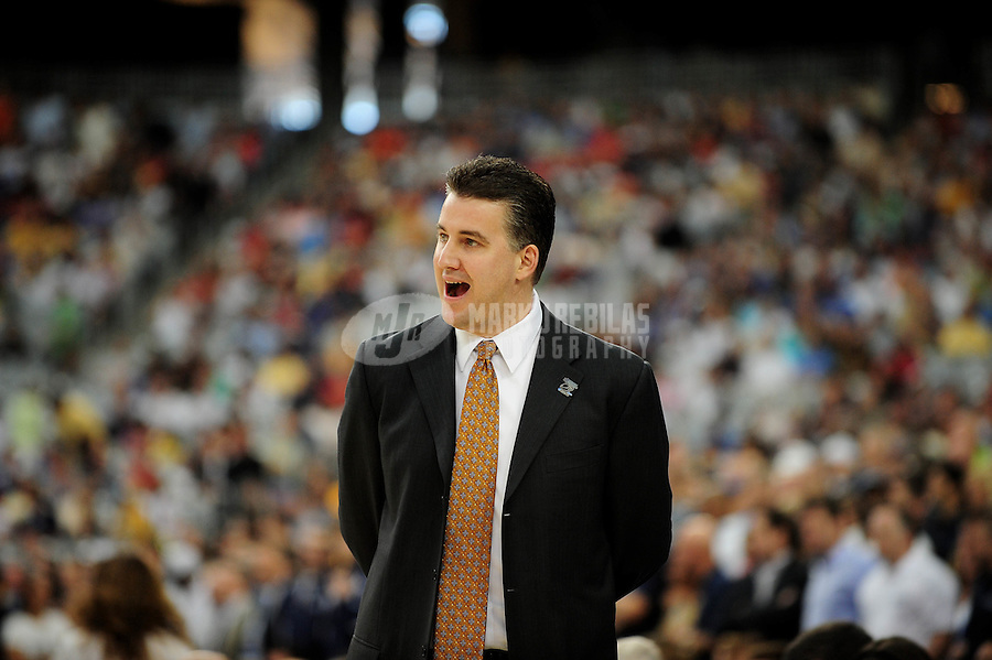 Mar 26, 2009; Glendale, AZ, USA; Purdue Boilermakers head coach Matt Painter against the Connecticut Huskies during the west regional semifinals of the 2009 NCAA mens basketball tournament at the University of Phoenix Stadium. Mandatory Credit: Mark J. Rebilas-