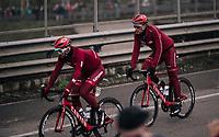 Marcel Kittel (DEU/Katusha-Alpecin) following Nathan Haas' (AUS/Katusha-Alpecin) wheel<br /> <br /> 109th Milano-Sanremo 2018<br /> Milano &gt; Sanremo (291km)