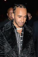 Lewis Hamilton attends the Fashion Awards 2019 afterparty at Laylow private members club in London.<br />