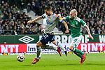 08.03.2019, Weserstadion, Bremen, GER, 1.FBL, Werder Bremen vs FC Schalke 04<br /> <br /> DFL REGULATIONS PROHIBIT ANY USE OF PHOTOGRAPHS AS IMAGE SEQUENCES AND/OR QUASI-VIDEO.<br /> <br /> im Bild / picture shows<br /> Jeffrey Bruma (FC Schalke 04 #27) im Duell / im Zweikampf mit Davy Klaassen (Werder Bremen #30), <br /> <br /> Foto &copy; nordphoto / Ewert