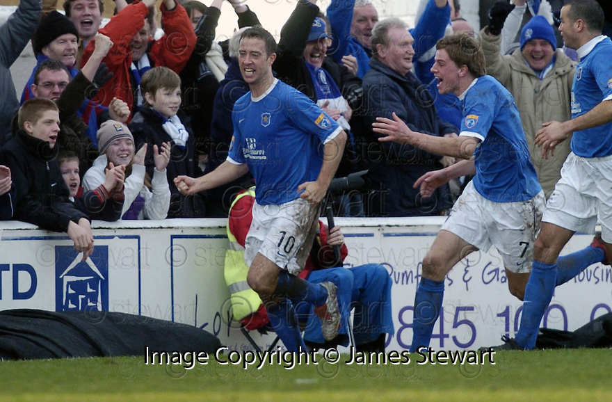 24/02/2007       Copyright Pic: James Stewart.File Name : sct_jspa14_qots_v_hibernian.JOHN O'NEILL CELEBRATES SCORING QUEEN OF THE SOUTH'S GOAL.....James Stewart Photo Agency 19 Carronlea Drive, Falkirk. FK2 8DN      Vat Reg No. 607 6932 25.Office     : +44 (0)1324 570906     .Mobile   : +44 (0)7721 416997.Fax         : +44 (0)1324 570906.E-mail  :  jim@jspa.co.uk.If you require further information then contact Jim Stewart on any of the numbers above.........