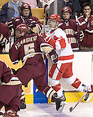 (Matt Greene, Pat Gannon, Justin Murphy) Tim Filangieri, John Laliberte - The Boston University Terriers defeated the Boston College Eagles 2-1 in overtime in the March 18, 2006 Hockey East Final at the TD Banknorth Garden in Boston, MA.