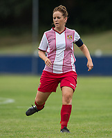 Donna McGuigan of Stevenage Ladies during the pre season friendly match between Stevenage Ladies FC and Watford Ladies at The County Ground, Letchworth Garden City, England on 16 July 2017. Photo by Andy Rowland / PRiME Media Images.