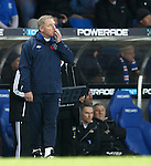 Rangers manager Ally McCoist looks up at the scoreboard after Inverness goal no 3