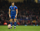 17th March 2018, Principality Stadium, Cardiff, Wales; NatWest Six Nations rugby, Wales versus France; Maxime Machenaud of France lines up the penalty