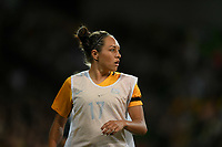 22 November 2017, Melbourne - KYAH SIMON (17) of Australia warms up during an international friendly match between the Australian Matildas and China PR at AAMI Stadium in Melbourne, Australia.. Australia won 5-1. Photo Sydney Low