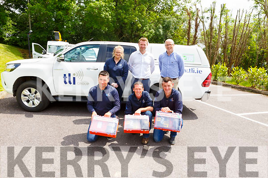 Three members of TLI, Denis O'Sullivan, Liam Corcoran and Batt Lawlor are now trained to use a defibrillator. <br /> L-r, Denis O'Sullivan, Liam Corcoran and Batt Lawlor.<br /> Back l-r, Donagh Shanahan, Padraig Laide and Michelle Walsh.
